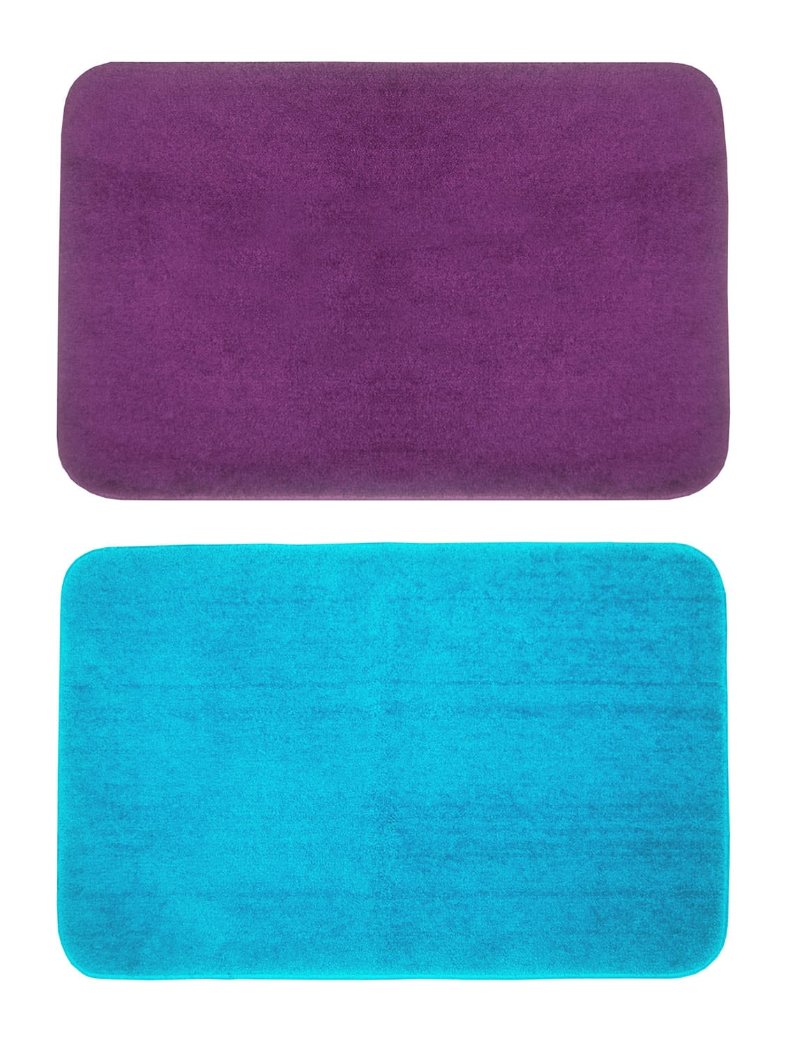 Buy Set Of 2 Micro Fiber Spa Bath Mat With Rubber Backing by Bianca ...