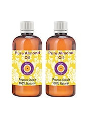 Pure Almond Oil - Pack Of Two (100ml + 100ml) (Prunus Dulcis) - 100% Natural Cold Pressed - By