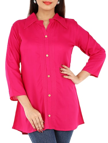 6eb6419ca9bce Buy Solid Red Satin Shirt for Women from Stanvee for ₹529 at 47 ...