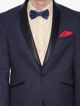 navy blue polyester formal blazer - 12268469 - Standard Image - 4