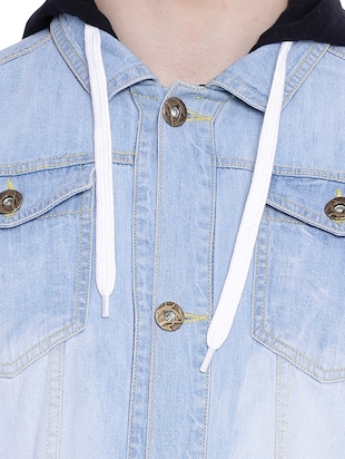 blue cotton denim jacket - 12268726 - Standard Image - 4