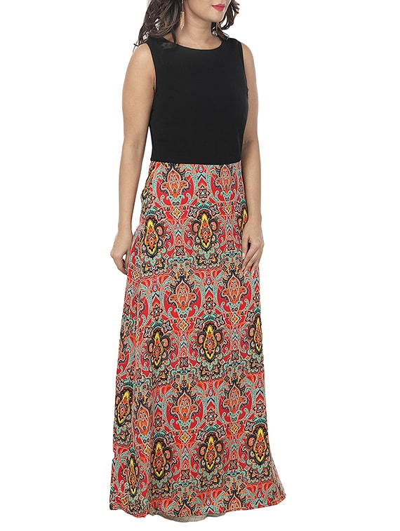 7e9a9adade5 Buy Damask Print Maxi Dress for Women from A K Fashion for ₹449 at 59% off