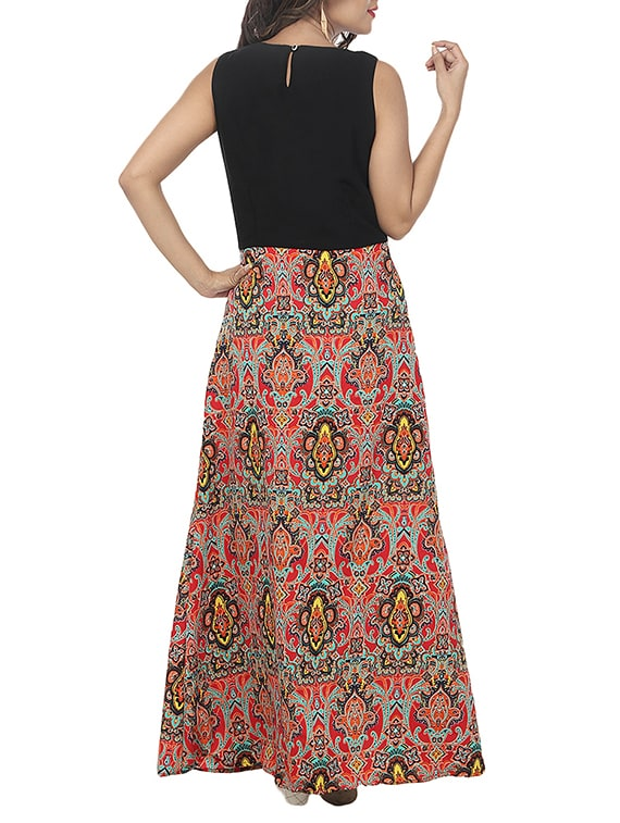 f306e961d Buy Damask Print Maxi Dress for Women from A K Fashion for ₹449 at 59% off