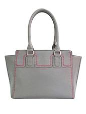 Grey Dotty Printed Shoulder Bag - By