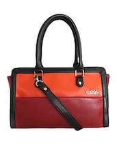 Multicolor Faux Leather Shoulder Bag - By