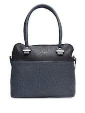 Navy Blue And Black Handbag - By