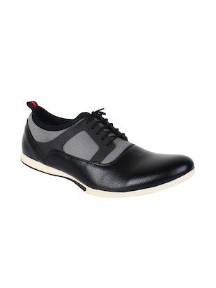 black Leatherette lace up shoe -  online shopping for Sneakers
