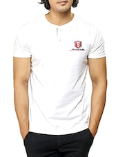 solid white cotton t-shirt -  online shopping for T-Shirts