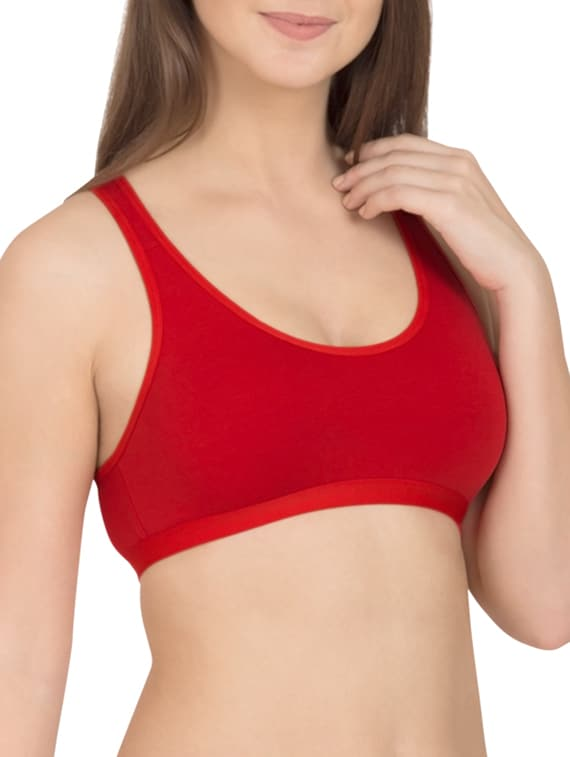 e6d5b3d4ba Buy Solid Pink Cotton Sports Bra (set Of 3) by Tweens - Online shopping for  Bra in India