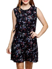 black floral printed rayon jumpsuit -  online shopping for Jumpsuits