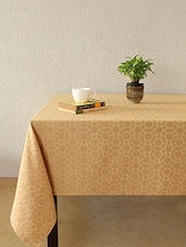 House This Jharokha Jaali 100% Cotton Table Cover - Beige - By