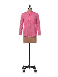 Pink Cotton Shirt With Pockets - Chemistry
