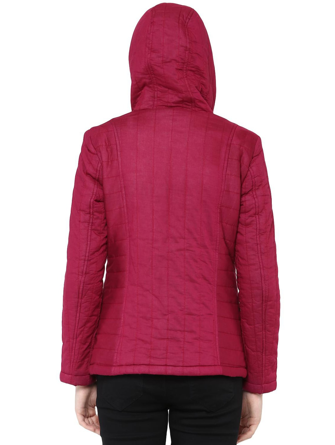 32fec1dd40e Purple Cotton Quilted Jacket For Women From The Vanca 1080