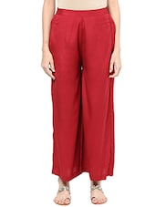 red rayon palazzos -  online shopping for Palazzos