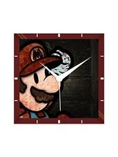 Multicolor Engineering Wood Saluting Mario Wall Clock - By