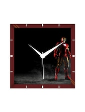 Multicolor Engineering Wood The Iron Man Wall Clock - By