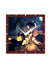 Multicolor Engineering Wood Spark Lady Wall Clock - By
