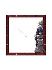 Multicolor Engineering Wood Naruto And Hinata Wall Clock - By