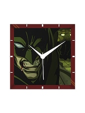 Multicolor Engineering Wood Marvel Batman Wall Clock - By