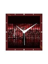 Multicolor Engineering Wood The Dark Knight Batman Wall Clock - By