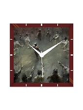Multicolor Engineering Wood Chris Cold Wall Clock - By