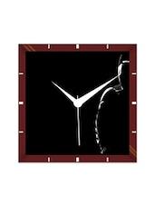 Multicolor Engineering Wood Dark Batman Wall Clock - By