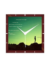 Multicolor Engineering Wood You Will Truly Smile Wall Clock - By