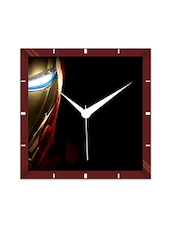 Multicolor Engineering Wood The Iron Man Face Wall Clock - By