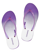 purple rubber slip on flip flops -  online shopping for Flip Flops