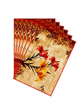 Leaf Designs Ochre Vintage Table Mats - Set Of 6 - By