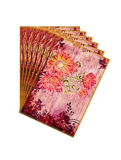 Leaf Designs Pink Vintage Table Mats - Set Of 6 - By