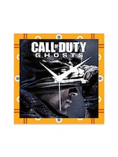 Multicolor Engineered Wood Call Of Duty Ghosts Wall Clock - By