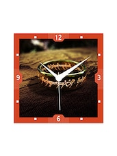 Multicolor Engineered Wood Lord Of The Rings Wall Clock - By