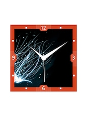Multicolor Engineered Wood Shining Star In Space Wall Clock - By