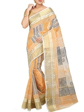 Multicolored Cotton tant saree -  online shopping for Sarees