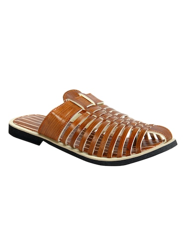 d6598771309ad9 Buy Brown Synthetic Slippers by Andrew Scott - Online shopping for Slippers  in India