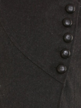 black wool over coat - 12350385 - Standard Image - 4