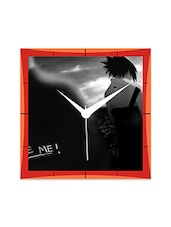 Naruto And Sasuke Black And White Detailed Wall  Clock - By