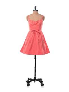 Coral Polka Dotted Dress - Chemistry