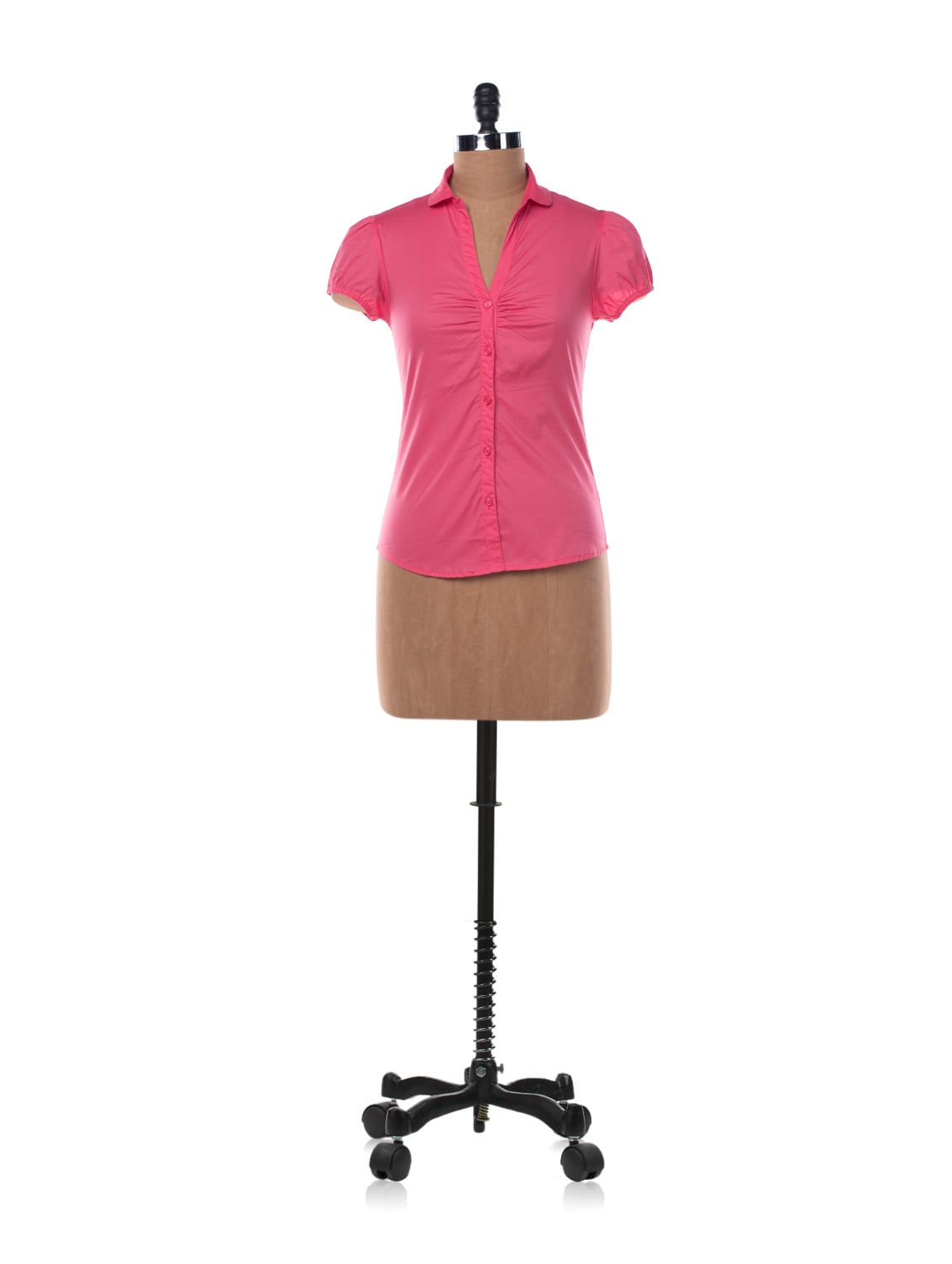 Pink Cotton Shirt With Short Sleeves - Chemistry