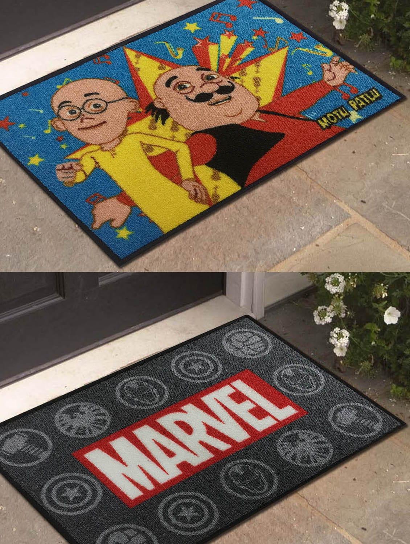 Buy Motu Patlu And Marvel Avengers Athom Trendz Small Doormat