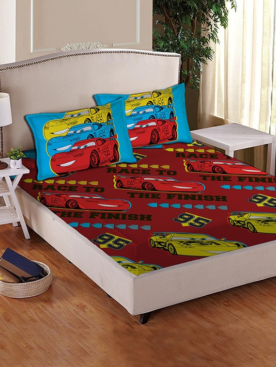 Buy Disney Cars Double Bed Sheet Set By Disney   Online Shopping For  Bedsheets In India | 12369879