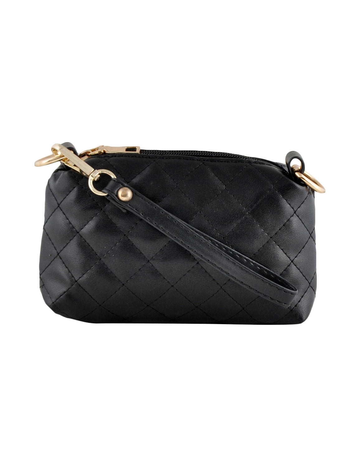 Buy Black Leatherette Quilted Handbag, Sling And Pouch Combo (set Of 3) by  Mark   Keith - Online shopping for Handbags in India   12392056 fd0902c893