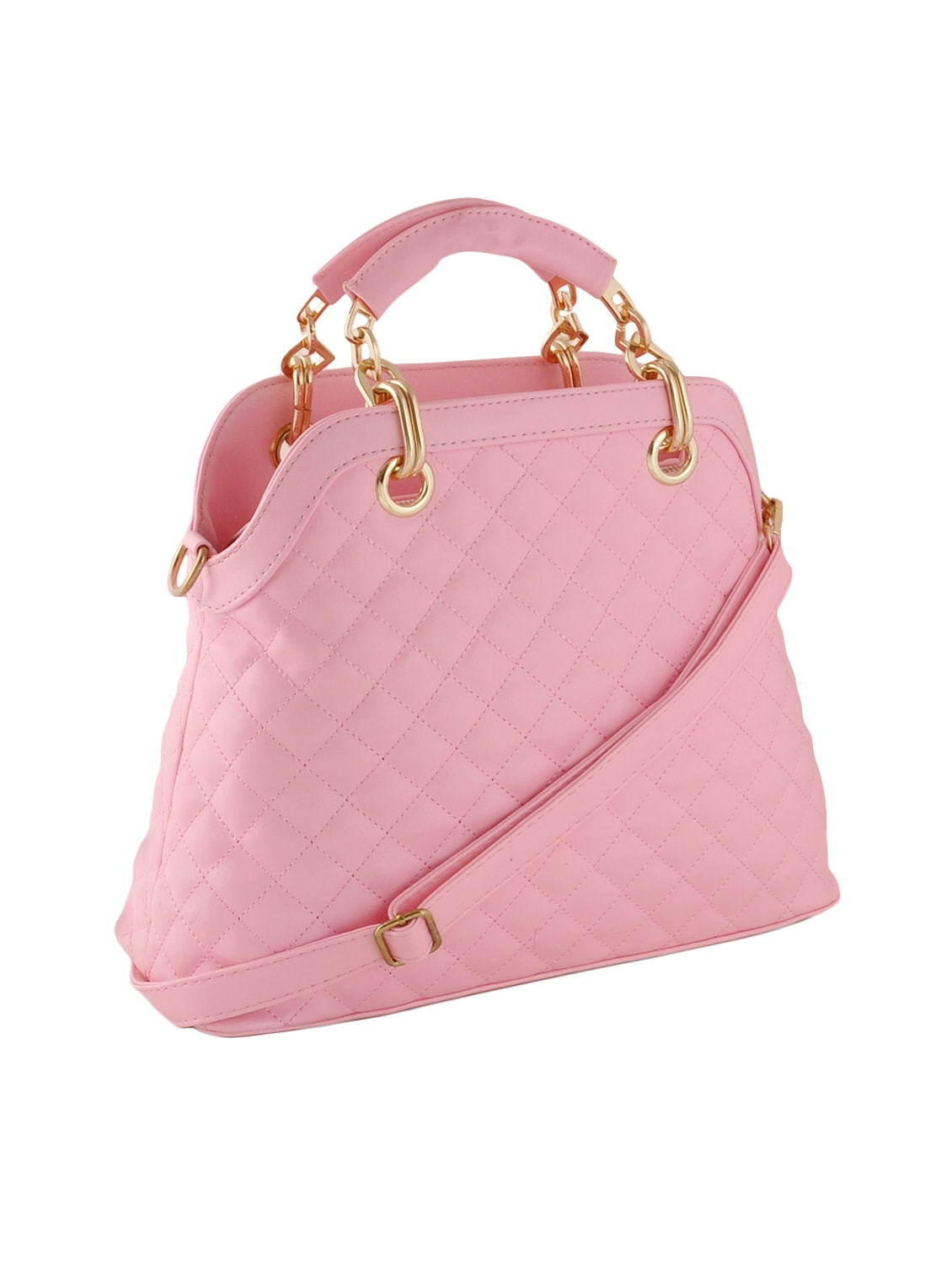 Buy Pink Leatherette Quilted Handbag, Sling And Pouch (set Of 3) by Mark    Keith - Online shopping for Handbags in India   12392058 6b61c5009c
