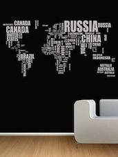 Creative Text World Map Wall Decal - By