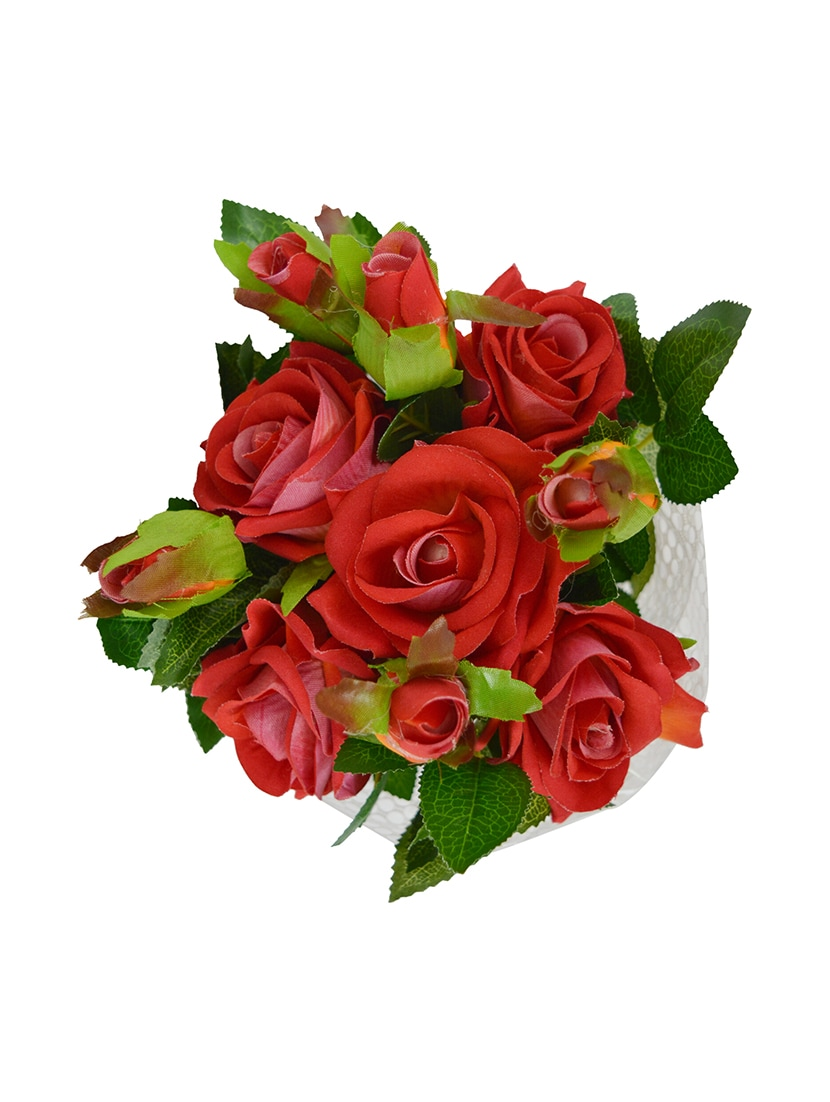 Buy Thefancymart Artificial Real Look Rose Flowers Bouquet 5 Flower
