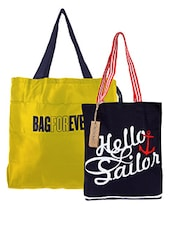 Multicolored Set Of Two Printed Tote Bags - By