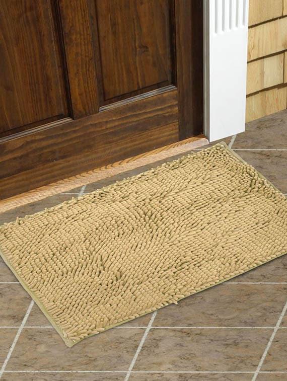 Pom Pom Antiskid Almond Floor Mat