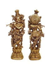 Brass Krishna Statue Decorative Figurine - By