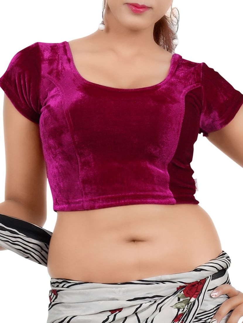 Buy Online Pink Velvet Blouse From Ethnic Wear For Women By Louis Fashion For 587 At 35 Off 2021 Limeroad Com
